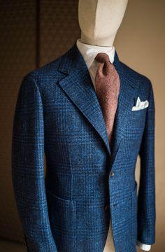 B&TAILOR — Blue glen plaid sportscoat