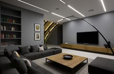 Contemporary Penthouse in Kiev Exhibits Original Arch Roofing - http://freshome.com/contemporary-penthouse-Kiev/