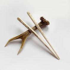 Hair chopsticks hair sticks Deer antler Hair by mariya4woodcarving, $52.00