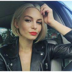 каре блонд фото