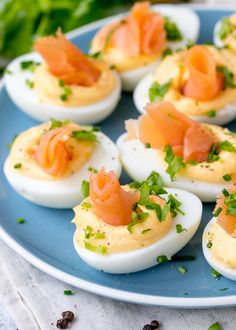 20 stuffed mushroom recipes to serve at your next soiree including this Smoked Salmon Devilled Eggs recipe! 20 stuffed mushroom recipes to serve at your next soiree including this Smoked Salmon Devilled Eggs recipe! Easy Salmon Recipes, Egg Recipes, Brunch Recipes, Appetizer Recipes, Brunch Appetizers, Brunch Food, Bacon Recipes, Breakfast Recipes, Bacon Deviled Eggs