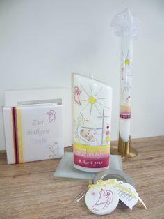 Tischtaufkerze, #Taufkerze und #Taufbrief Kombi mit Schutzengel Foto & Design © Sigrid Kiesenhofer
