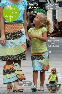 Mommy & Dollie & Me pattern