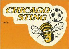 1979 Topps NASL #5 Chicago Sting Logo Front