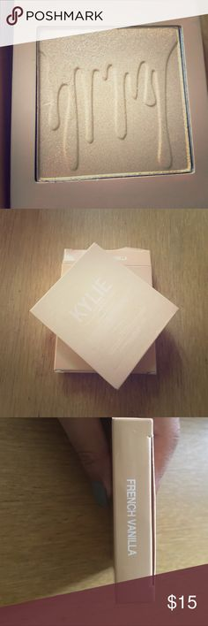 French Vanilla Kylighter Kylighter shade French Vanilla, has not been used. Kylie Cosmetics Makeup Face Powder