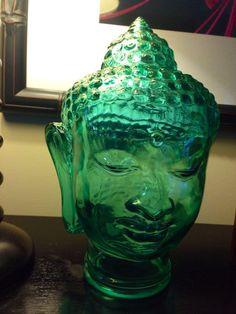 Decorative Glass Buddha Head