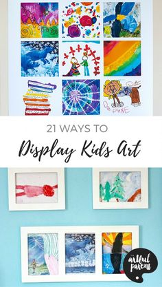 via Artful Parent Try these great ways to display kids artwork that honor their creativity, look good in your home, and are easy to switch out regularly with new artwork. Displaying Kids Artwork, Artwork Display, Display Kids Art, Display Ideas, Art Books For Kids, Art For Kids, Kids Work, Art Children, School Children