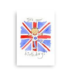 Union Jack Boy Card by Soobaloo on Folksy by  £2.00
