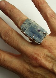Large Geometric Statement Ring with Rough by laurastamperdesigns