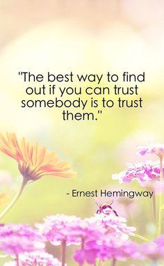 Trust Somebody