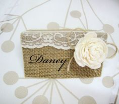 Table Card Holders  Wedding Place Name Card Rustic by superlunary
