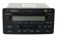2003-2004 Toyota Sequoia AM FM Compact Disc w Cassette Part Number 86120-OC121