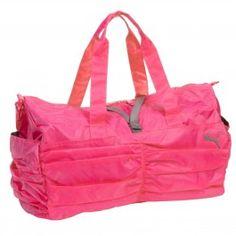 Puma Pink Nylon Gloss Yoga Duffel Bag www.silverhooks.com