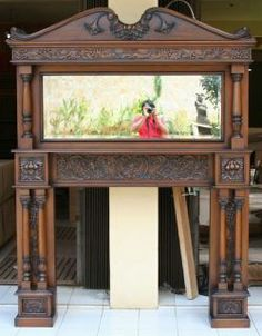Victorian Style Mahogany Fire Place Mantle x 91 Tall Fireplace Mantle, Victorian Fashion, Entryway Tables, Gazebo, Home Improvement, Mantle Decorating, Home And Garden, Outdoor Structures, Building