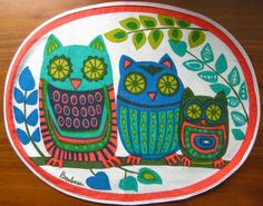 Owl Placemat Pinned by www.myowlbarn.com