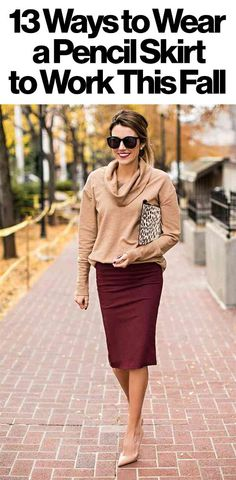 13 stylish ways to wear a pencil skirt to the office this fall - click for all sorts of street style inspiration