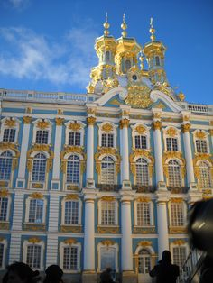 Cathrine's Palace, St. Petersburg, Russia...Can we say massive and beyond luxurious!?