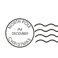 CHRISTMAS NORTH POLE POST MARK CLIP ART