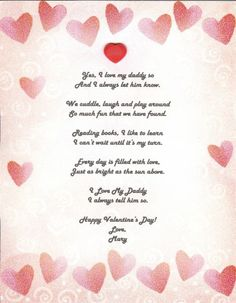 valentines poems parents