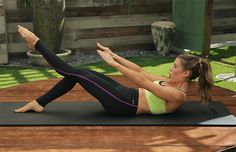 DailyBurn Pilates Workout: Single Leg Teaser