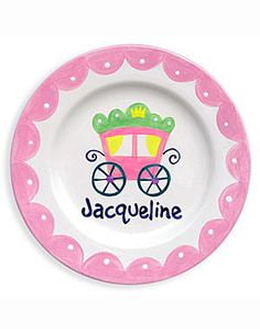 Falling for you autumn handprint keepsake plate all fired up in girls personalized princess coach ceramic plate negle Images