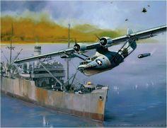 Terror at Tassafaronga Point, by Jack Fellows (PBY Catalina)