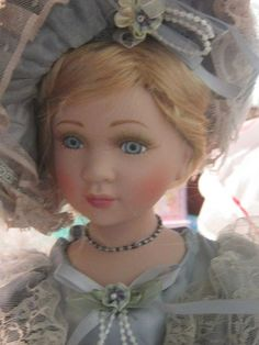 """CATHAY COLLECTION VICTORIAN 16"""" PORCELAIN DOLL """"JESSICA""""  NIB !!FREE SHIPPING!!"""