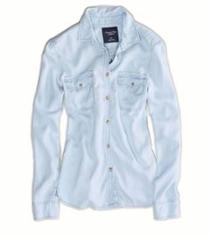 AE Denim Safari Shirt -- I don't care what anyone says...AE has THEE best chambray shirts.