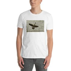 I'm Feeling Good Short-Sleeve Unisex Cotton T-Shirt, Flying Bird Tee, Canda Goose Shirt, Boho Clothing, Surfer Gift, Teenager Apparel, Gifts For Surfers, Trending On Pinterest, Boho Clothing, Small Shops, Cool Items, Boho Outfits, Canada Goose, Cool T Shirts, Swag