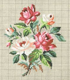"ru / Chispitas - Альбом ""C. Cross Stitch Rose, Cross Stitch Flowers, Cross Stitch Charts, Cross Stitch Designs, Cross Stitch Patterns, Wool Embroidery, Cross Stitch Embroidery, Embroidery Patterns, Vintage Cross Stitches"