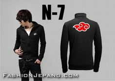 Jaket Anime Naruto - N-7, material poly adidas best quality