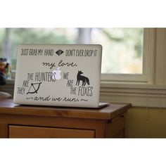 Designer Clothes, Shoes & Bags for Women Macbook Decal, Laptop Decal, Foxes, Hunters, Taylor Swift, Decals, Lyrics, Places, Polyvore