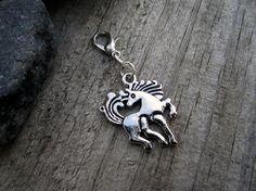 Silver Horse Charm  Midori Charm  Fauxdori by PohakantenJournals