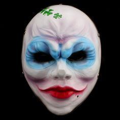 H&D PAYDAY 2 Resin Clover Bandidas Mask Halloween Party Props Cosplay Collection