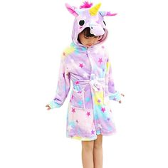 online shopping for Chicone Kid s Coral Fleece Unicorn Hooded Bathrobe  Fluffy Sleep Robe For Boys Girls from top store. See new offer for Chicone  Kid s ... b57a0eab4