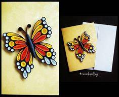 Paper quilling card #rinirusliquilling #card #handmade