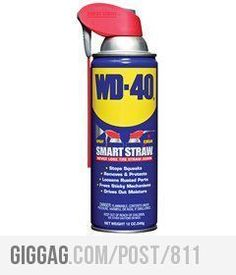 WD-40 Know what the main ingredient of Water Displacement 40 is?  Check out its many uses....untangle jewelry, calm fire ant bites, remove lipstick stains...