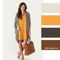 Build a wardrobe, associer, colourful outfits, colorful fashion, color tren Colour Combinations Fashion, Color Combinations For Clothes, Fashion Colours, Colorful Fashion, Look Fashion, Autumn Fashion, Fashion Outfits, Fashion Design, Fashion Ideas