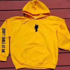 Billie Eilish Hoodies Women Funny Sweatshirt Harajuku Plus Size Hooded Pullover Hip Hop Unisex sold by Surya_Wonder. Shop more products from Surya_Wonder on Storenvy, the home of independent small businesses all over the world. Hoodie Outfit, Hoodie Sweatshirts, Tumblr Sweatshirts, Billie Eilish Merch, Trendy Hoodies, Cheap Hoodies, Mode Hip Hop, Yellow Hoodie, Look Cool
