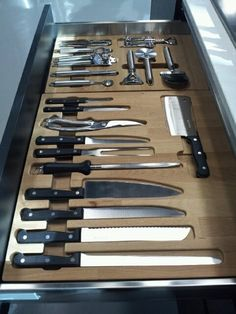 kitchen organization drawer | Knife drawer organization | For the Home: Kitchen