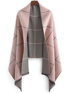 Scarf, vintage scarf ,plaid fringe scarf .Pick a pink grey color block one ,with the wool material, give a warm soft winter look to you .