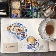 """101 Likes, 4 Comments - Liz Steel (@lizsteelart) on Instagram: """"Lovely relaxing Bombay breakfast @dishoom #edinburgh catching up with @esthersemm and sketching my…"""""""