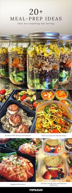 21 #MealPrep Ideas That Are Anything but Boring  No instructions but some good ideas. The pics are from various Instagram users. They do give one similar recipe for an item in each picture.