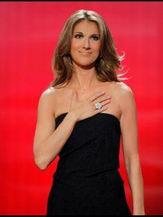 Celine Dion love the big diamond