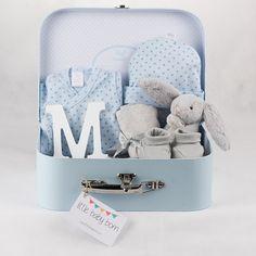 Regalos y canastillas para recién nacidos - Little Baby Born - Maletín Estrellas Azules para niño recién nacido