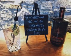 Loch Ness Gin - Great with a slice of kiwi served with Fever Tree tonic Inverness Scotland, Gin Lovers, Restaurant Bar, Kiwi, Brewery, Drinks, Beverages, Drink, Beverage