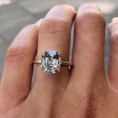 22 Cushion Cut Engagement Rings in Honor of Meghan Markle and Prince Harry�s Royal Wedding #cushioncutdiamonds #classicdiamondshapes #engagementideas #engagementringsroyals