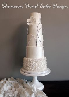 EDITOR'S CHOICE (01/24/2015) Winter's Love Wedding Cake by Shannon Bond Cake Design View details here: http://cakesdecor.com/cakes/177384-winter-s-love-wedding-cake