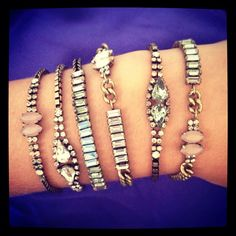 Stack your style with our new vintage-inspired layering #bracelets! #jewelry #armparty arinbforstenzer.chloeandisabel.com