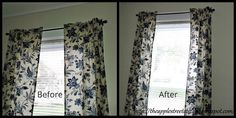Easy Curtain Panel Hack Let Them Talk, Panel Curtains, Sunny Days, Window Treatments, Hacks, Easy, Curtain Panels, Glitch, Sheet Curtains